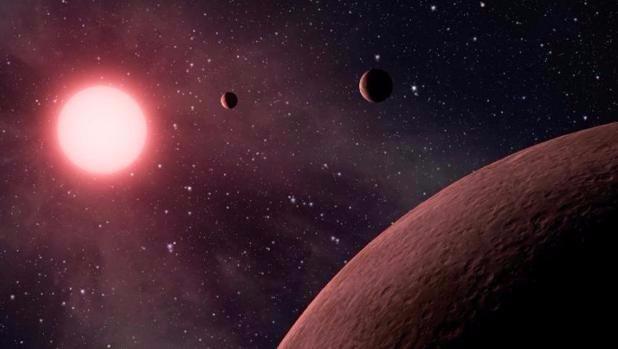 Representación de un sistema solar lejano - NASA/JPL-Caltech